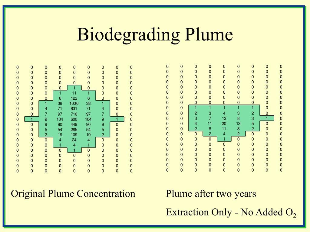 Biodegrading Plume