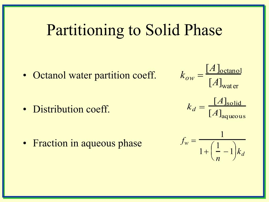 Partitioning to Solid Phase