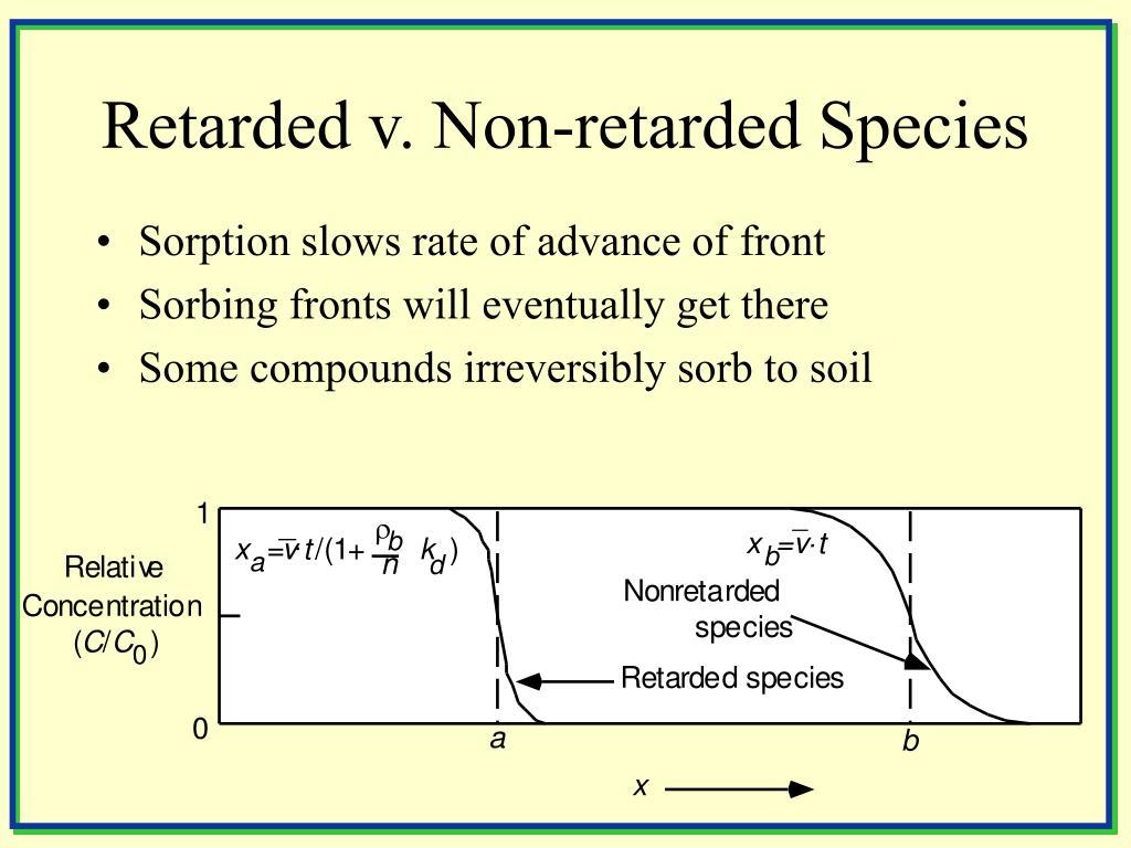 Retarded v. Non-retarded Species