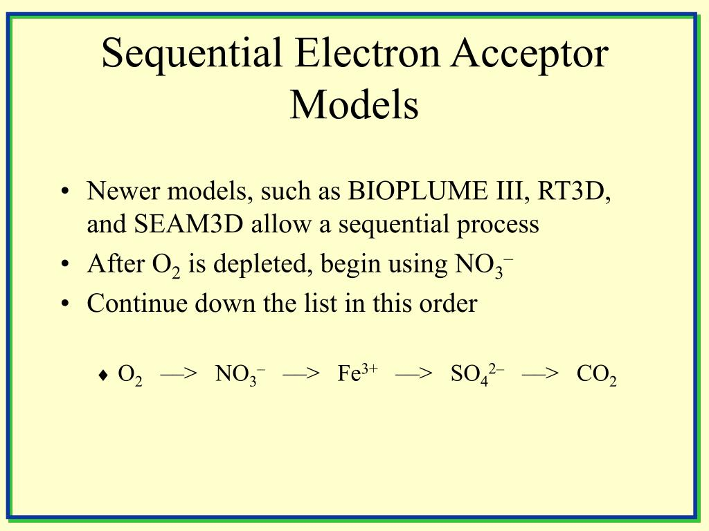 Sequential Electron Acceptor Models