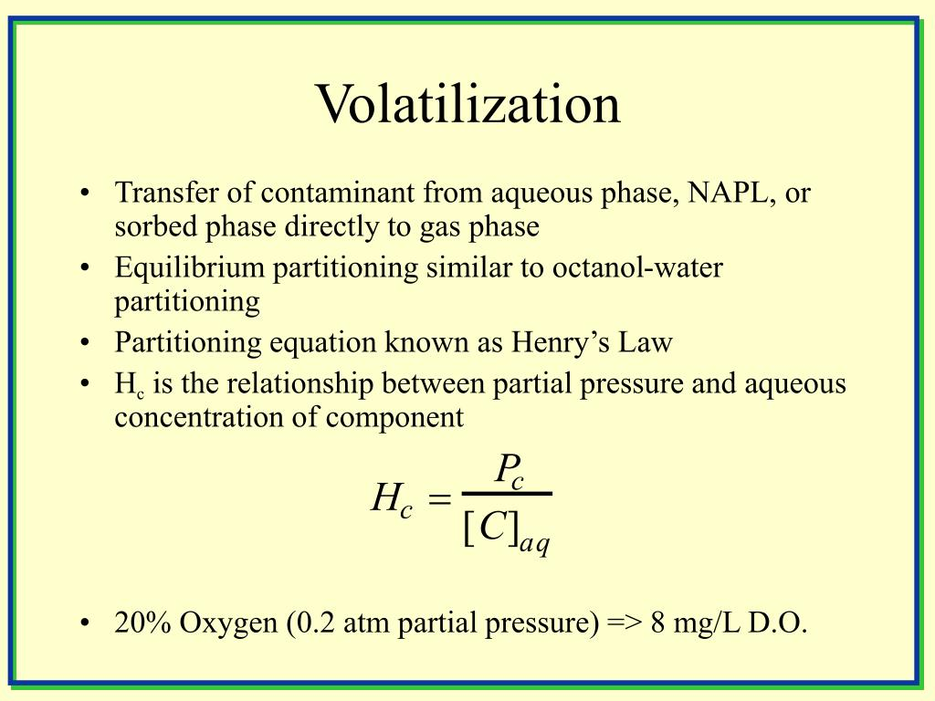 Volatilization