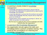 e learning and knowledge management
