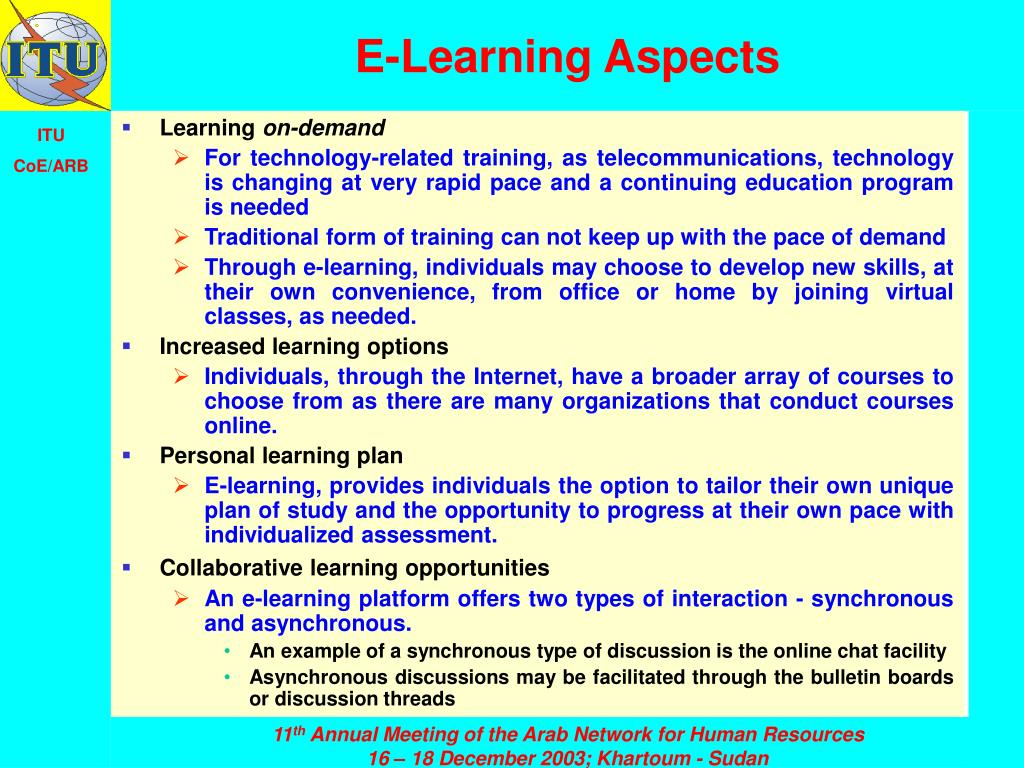 E-Learning Aspects