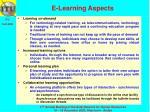 e learning aspects