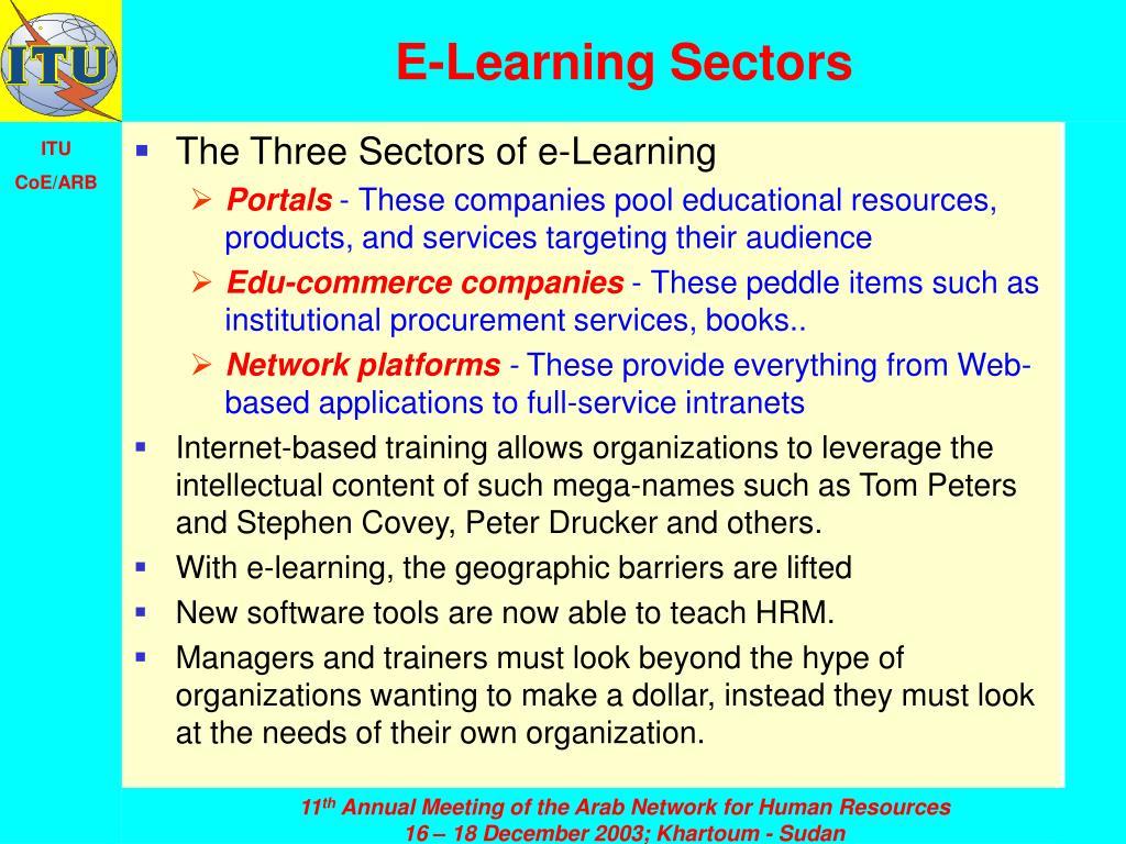 E-Learning Sectors