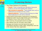 e learning sectors