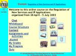 example regulation of new services and ip applications