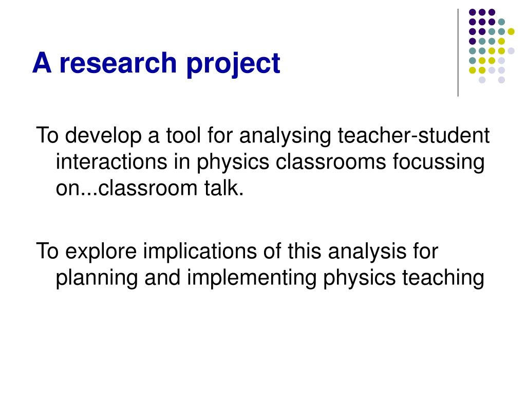 A research project