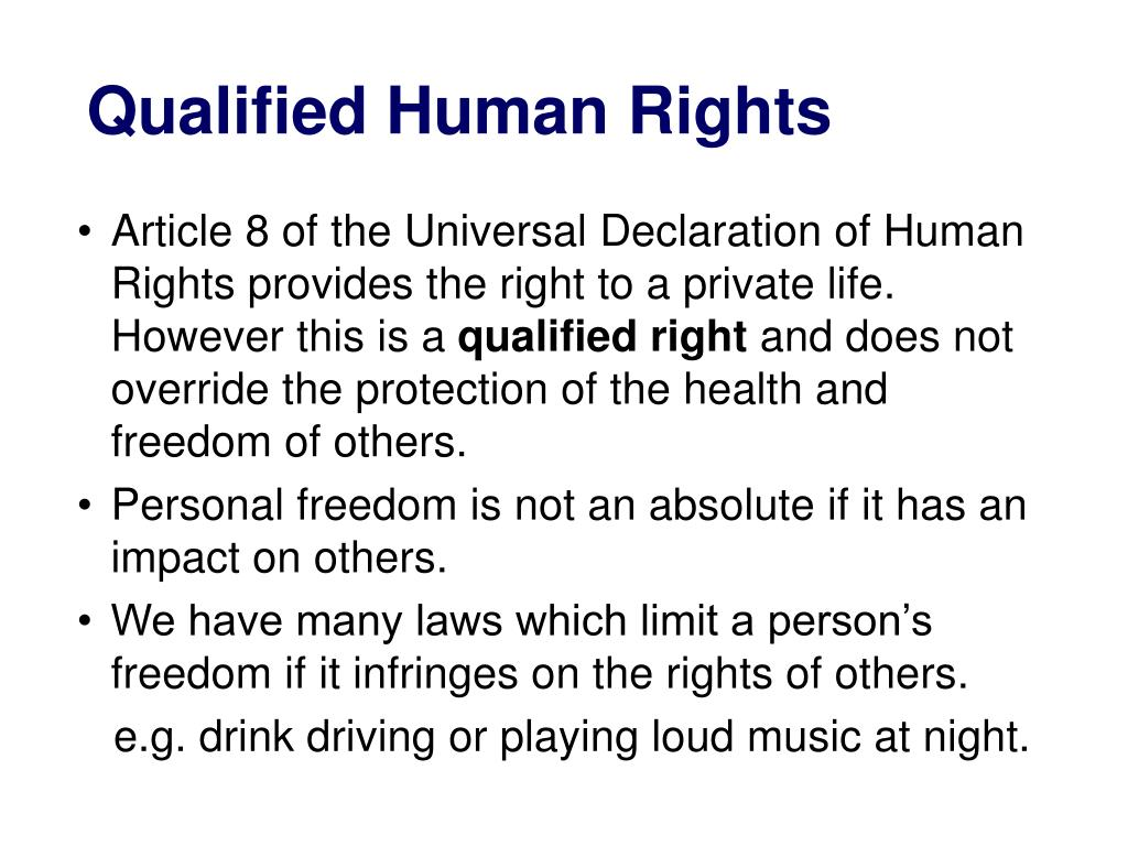 Qualified Human Rights