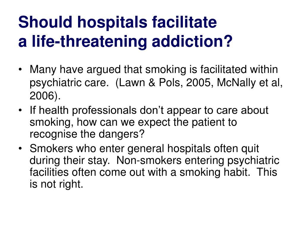Should hospitals facilitate