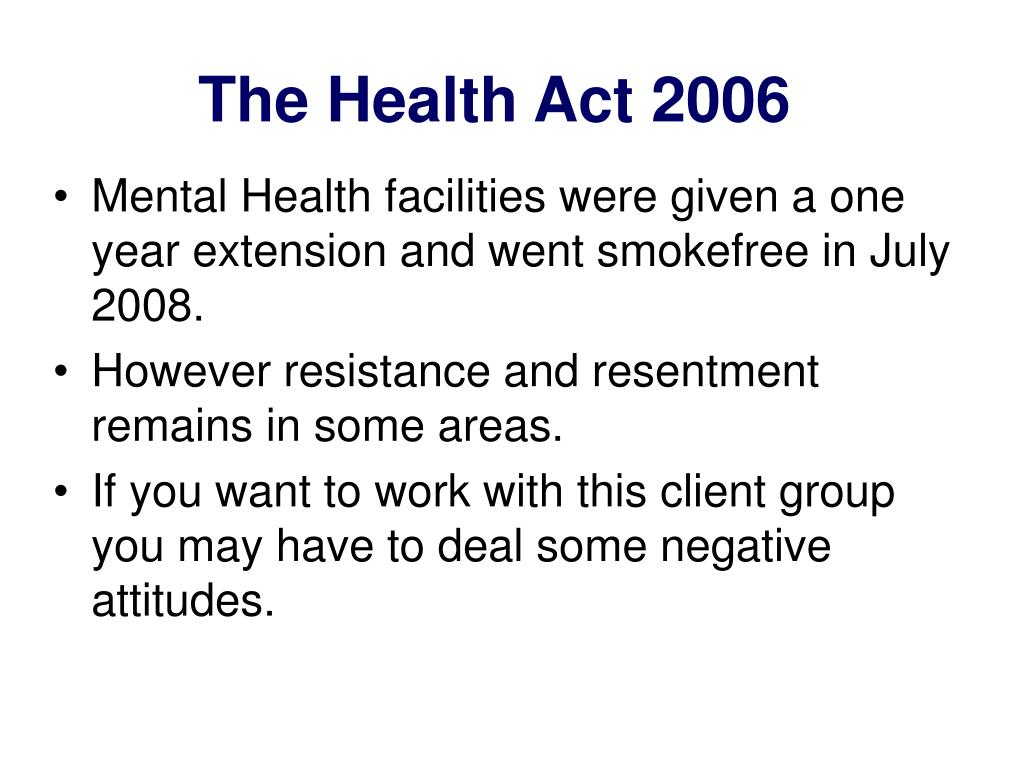 The Health Act 2006