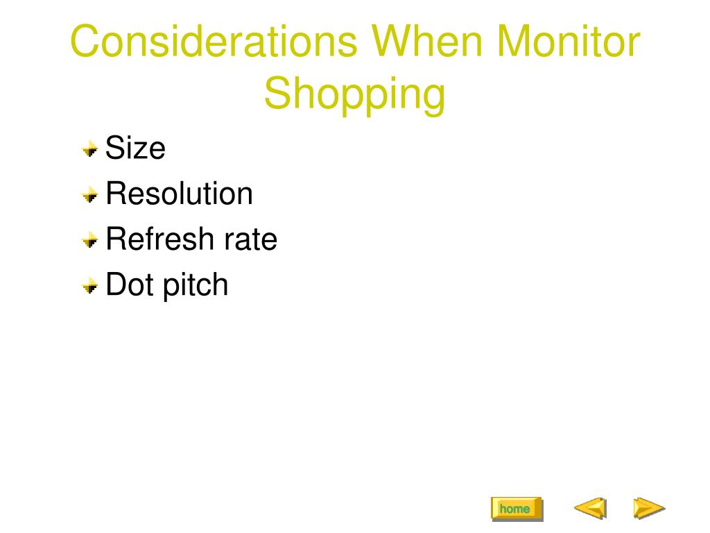 Considerations When Monitor Shopping