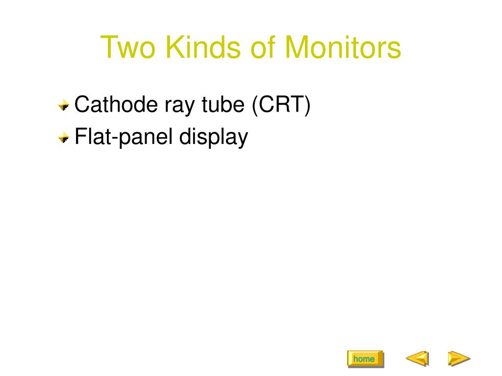 Two Kinds of Monitors