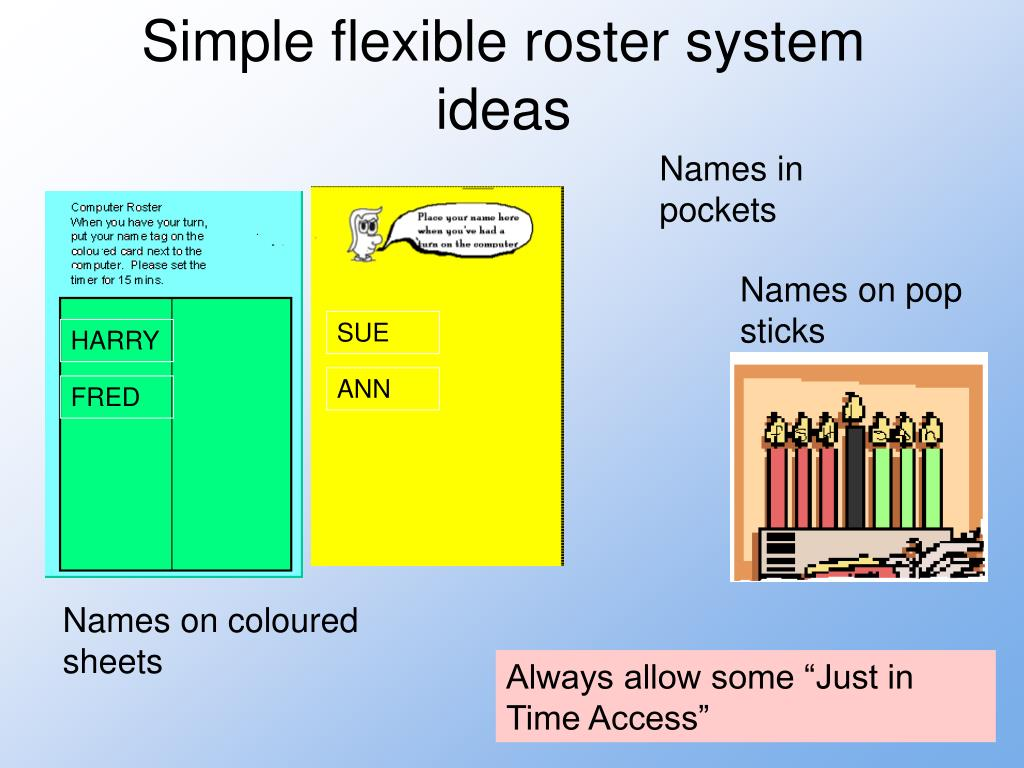 Simple flexible roster system ideas