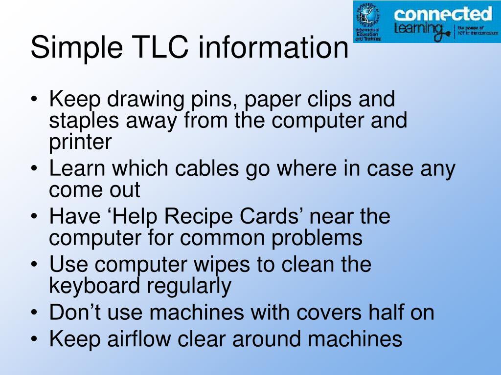 Simple TLC information