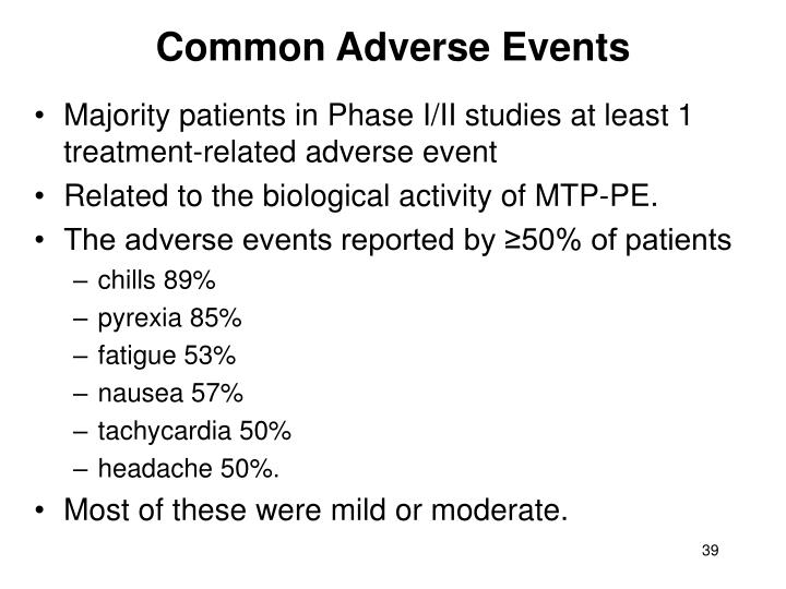 Common Adverse Events