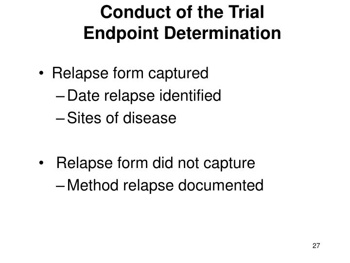 Conduct of the Trial