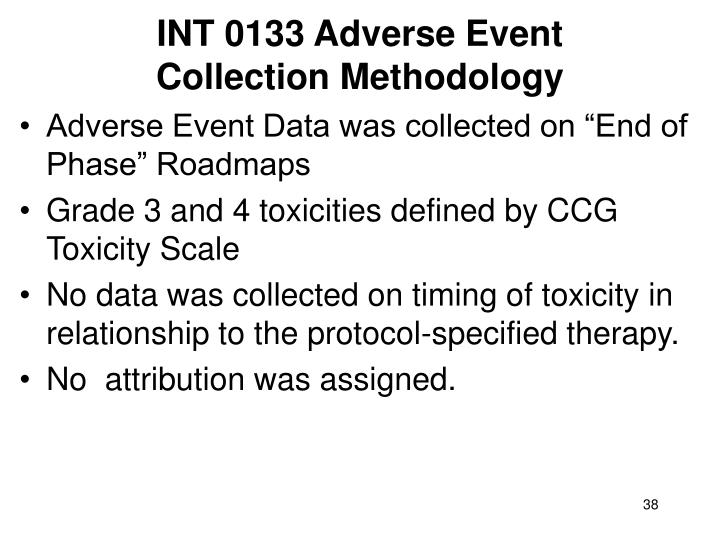 INT 0133 Adverse Event