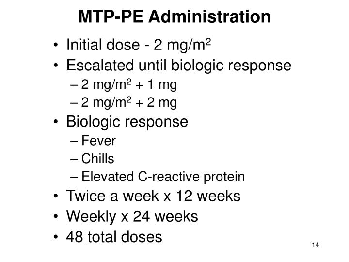 MTP-PE Administration