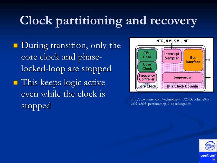 Clock partitioning and recovery