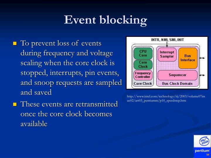 Event blocking