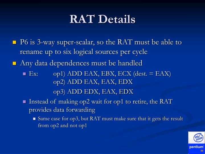 RAT Details