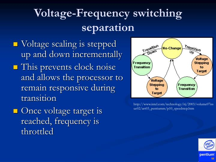 Voltage-Frequency switching separation