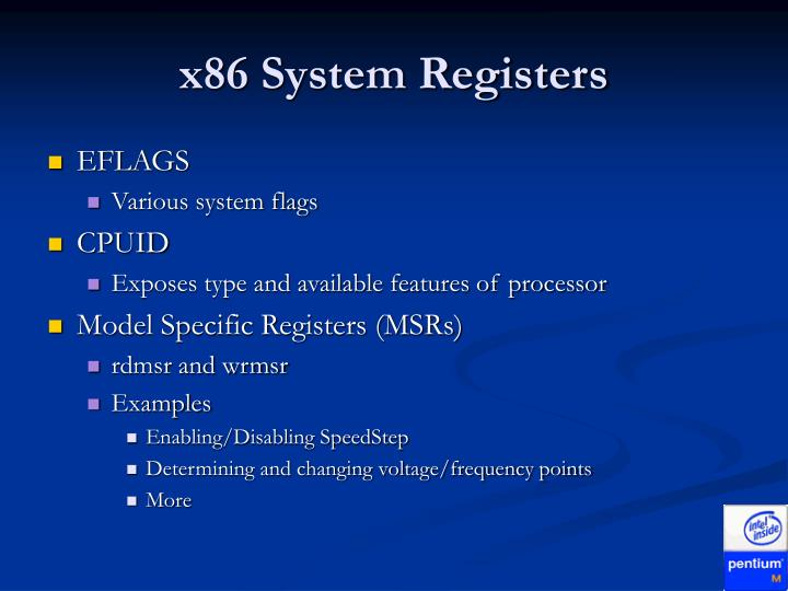 x86 System Registers
