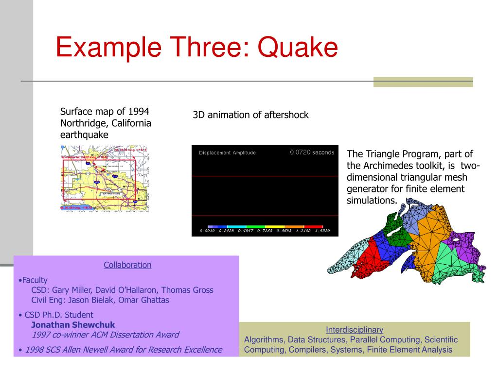 Example Three: Quake