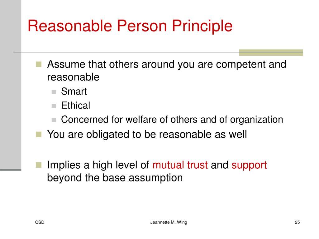 Reasonable Person Principle