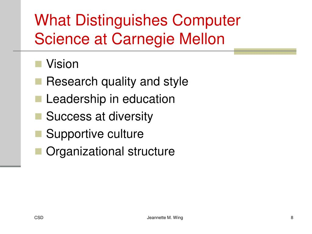 What Distinguishes Computer Science at Carnegie Mellon