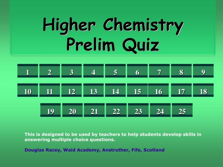 This is designed to be used by teachers to help students develop skills in answering multiple choice questions.