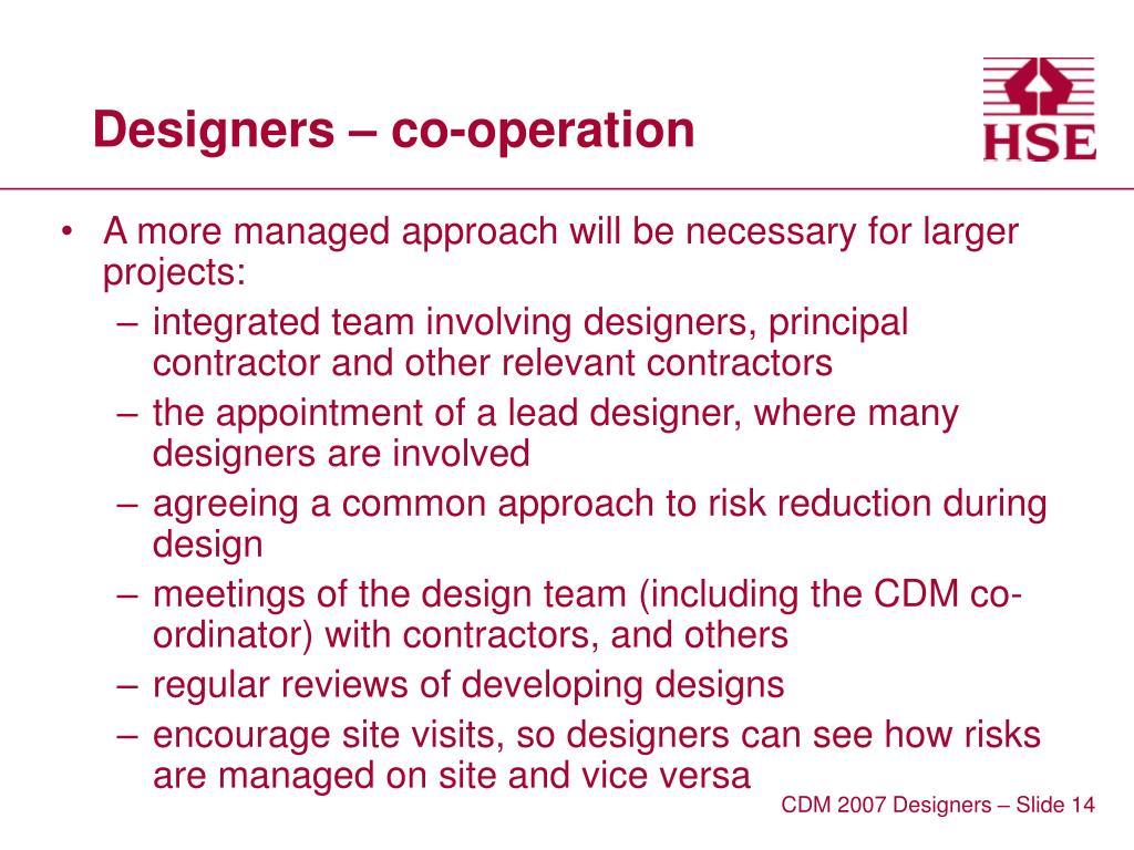 Designers – co-operation