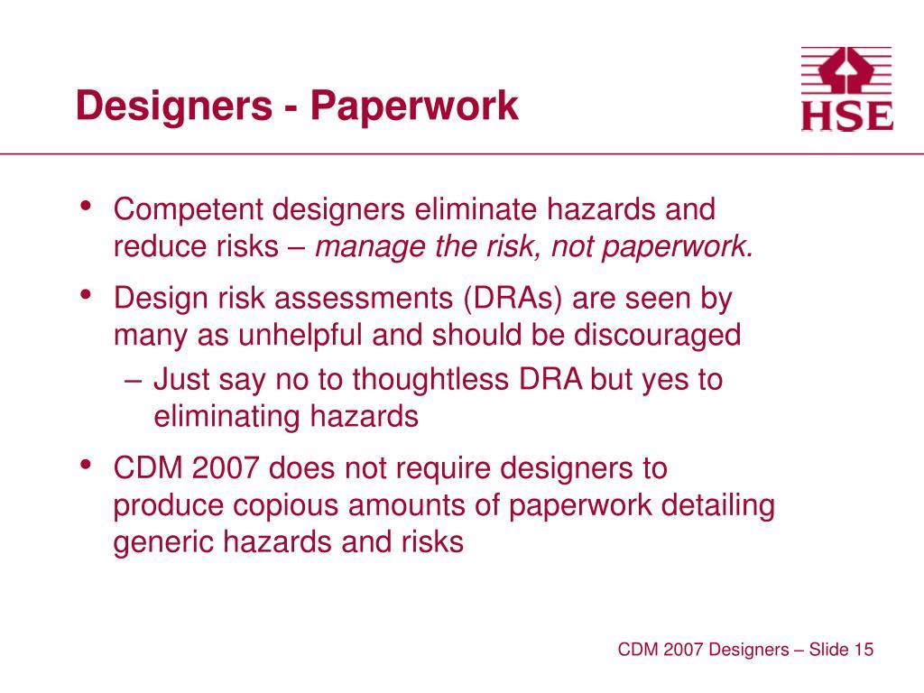 Designers - Paperwork