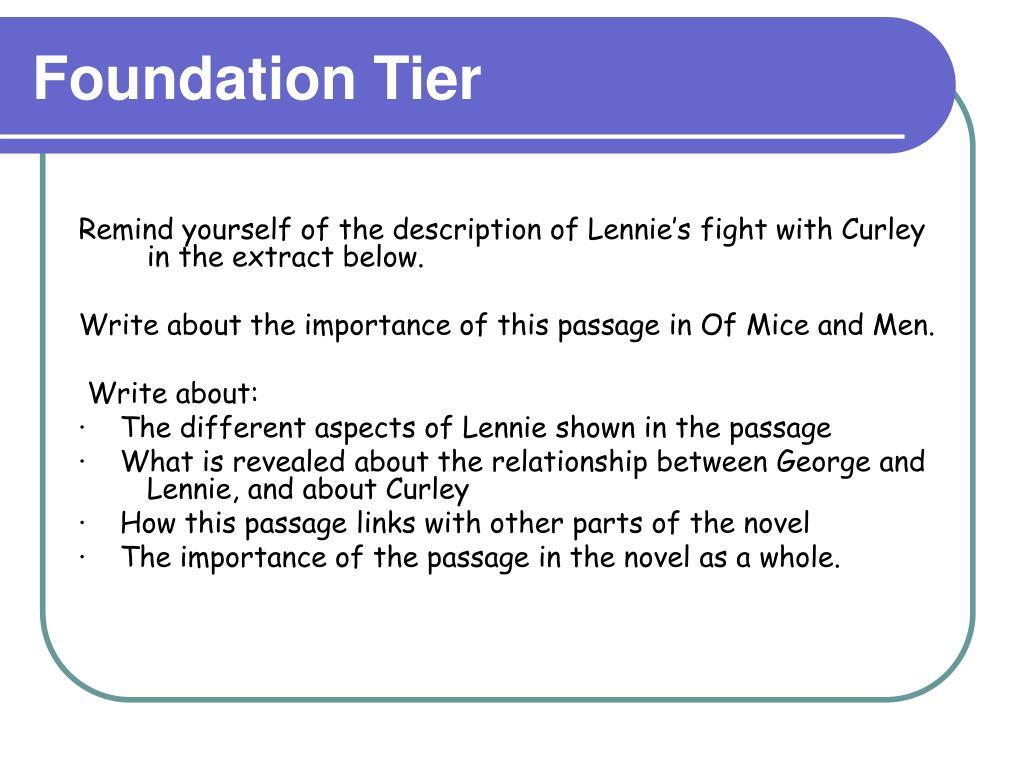 Foundation Tier