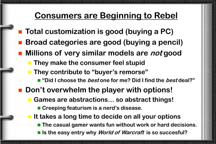 Consumers are Beginning to Rebel