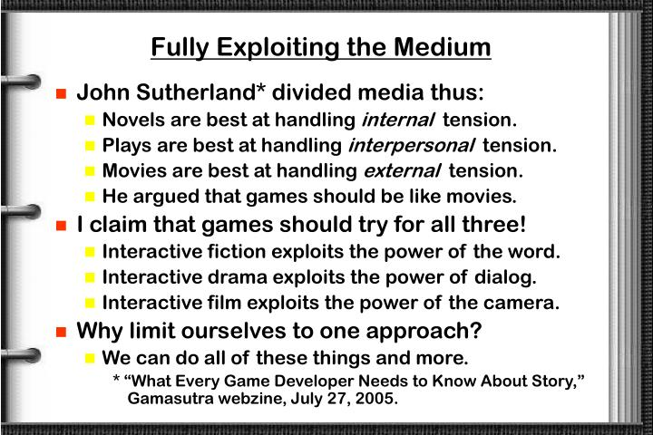 Fully Exploiting the Medium