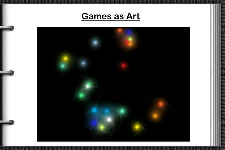 Games as Art