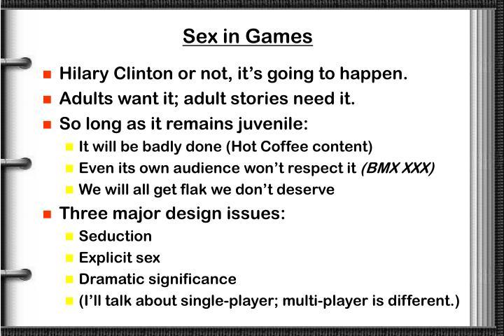 Sex in Games