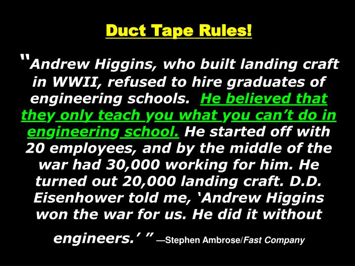 Duct Tape Rules!