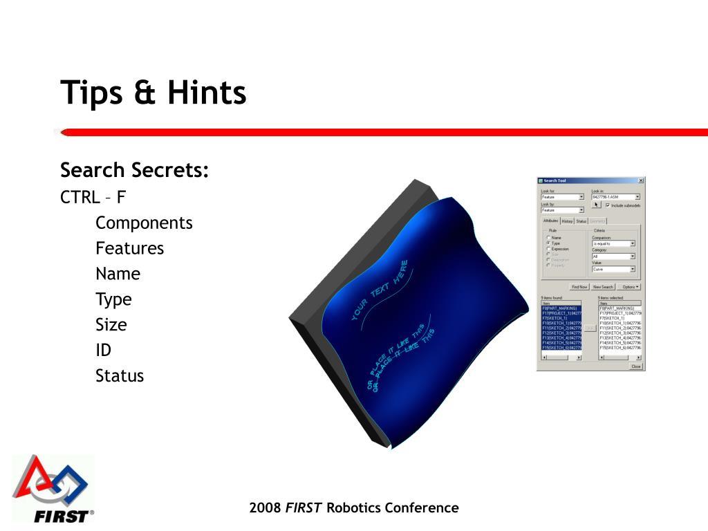 Tips & Hints