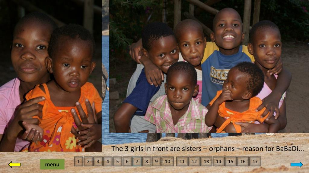 The 3 girls in front are sisters – orphans – reason for BaBaDi...
