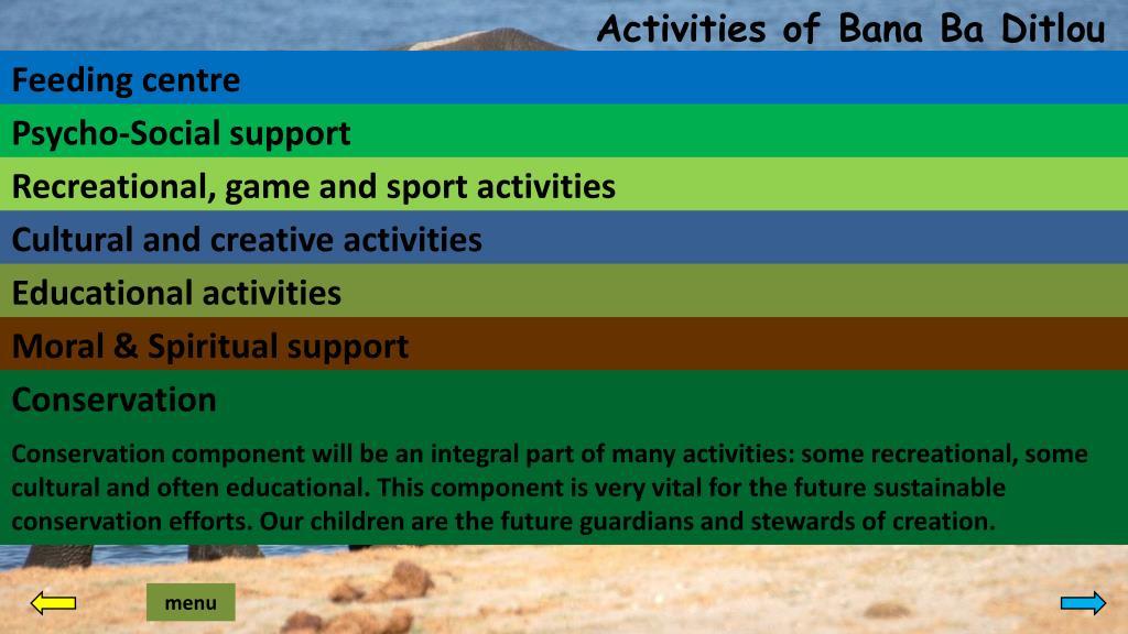 Activities of