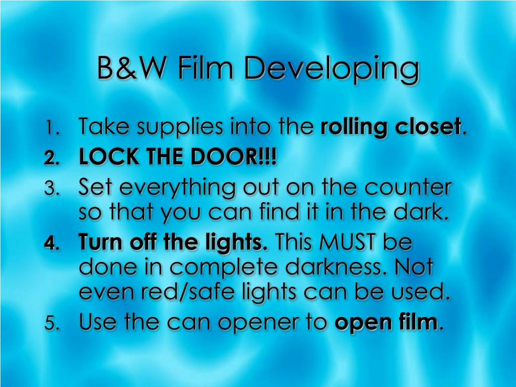 B&W Film Developing