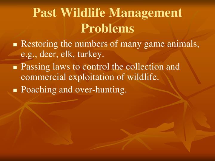 Past Wildlife Management Problems