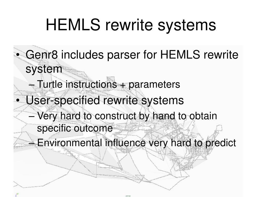 HEMLS rewrite systems