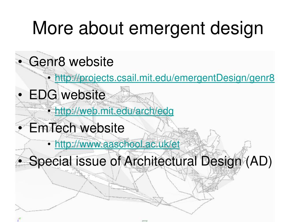 More about emergent design