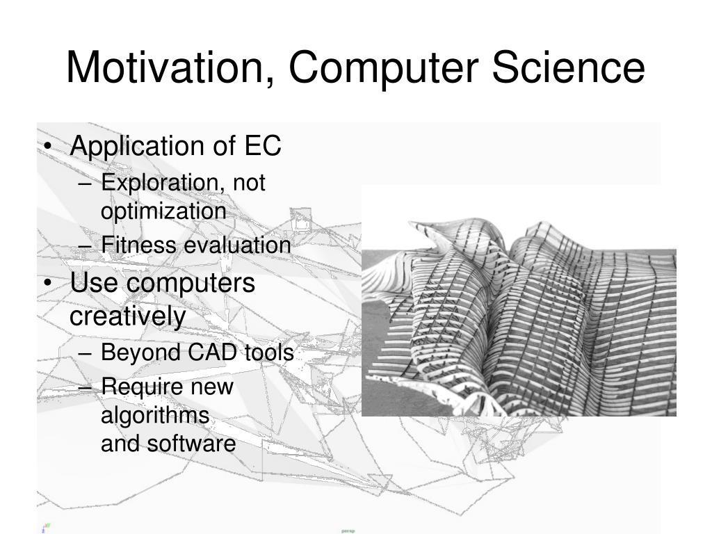 Motivation, Computer Science