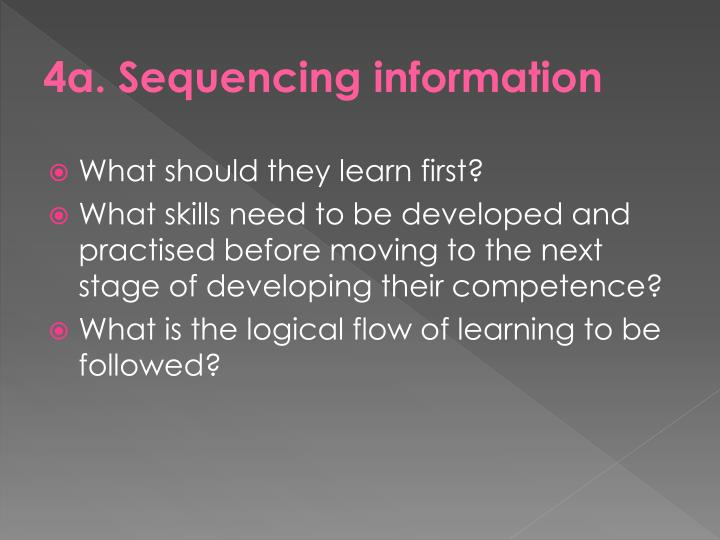 4a. Sequencing information