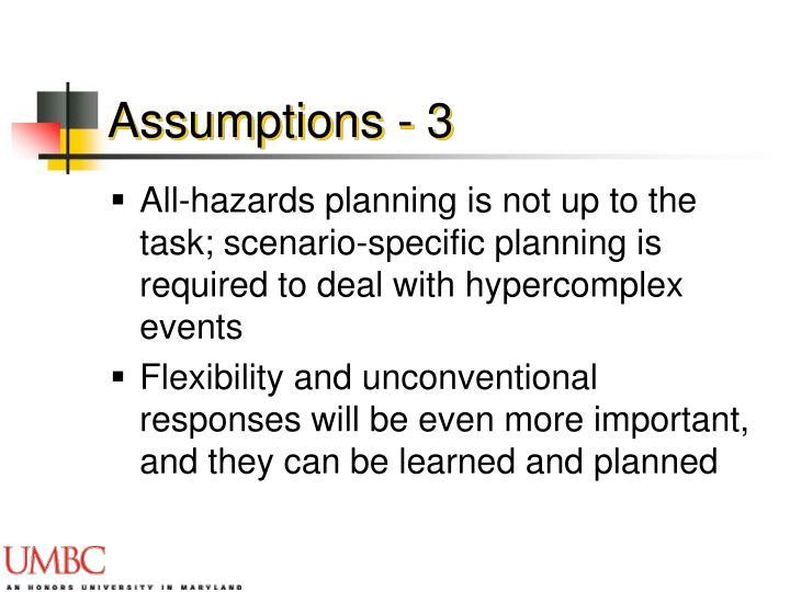 Assumptions - 3